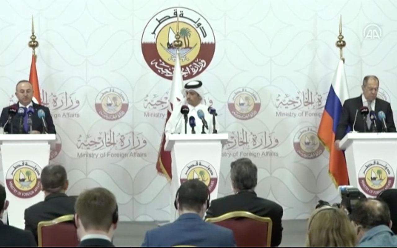 Çavuşoğlu ve Lavrov'dan Suriye açıklaması! Türkiye, Rusya ve Katar birlikte savaşacak