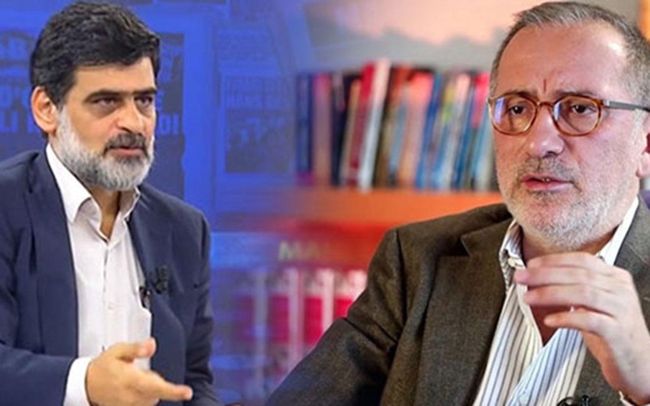 """Fena kavga patladı! Fatih Altaylı, Yeni Akit yazarı Ali Karahasanoğlu'na """"manyak herif"""" dedi"""