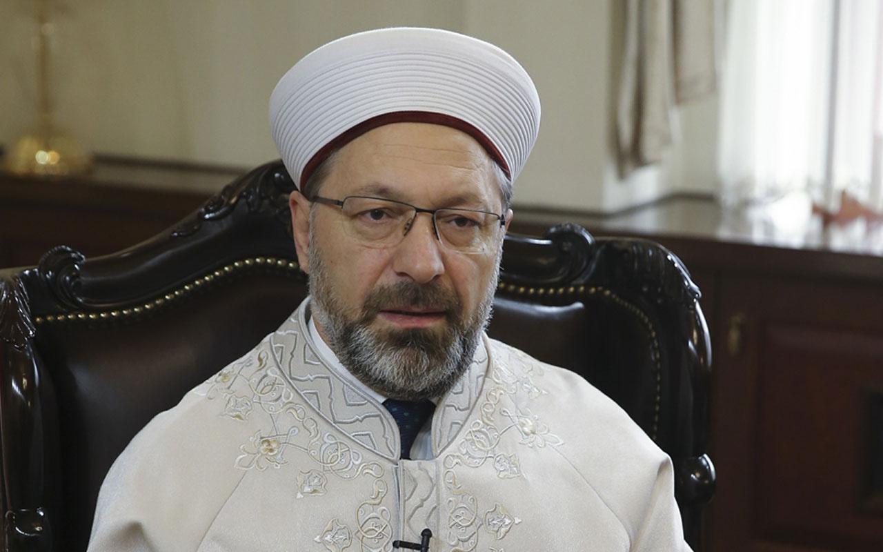 Koronavirüs tedavisi gören Diyanet İşleri Başkanı Prof. Dr. Ali Erbaş'tan açıklama