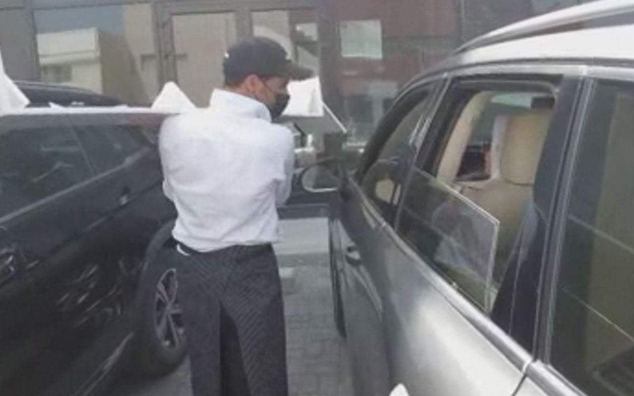 Kuveyt'te çareyi böyle buldular! Koronaya karşı araç içi restoran hizmeti