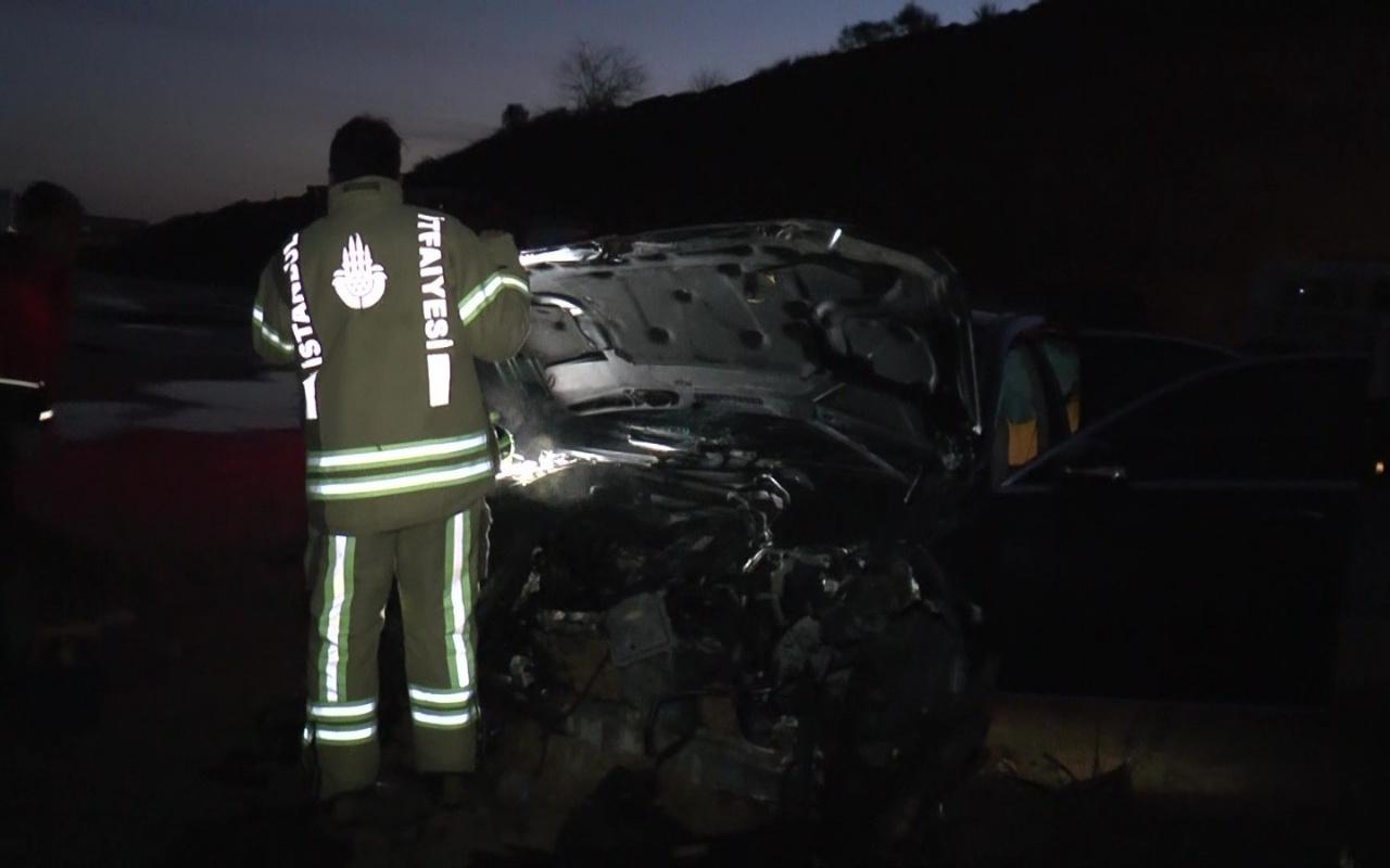 Tuzla'da feci kaza: Lüks aracıyla şarampole yuvarlandı