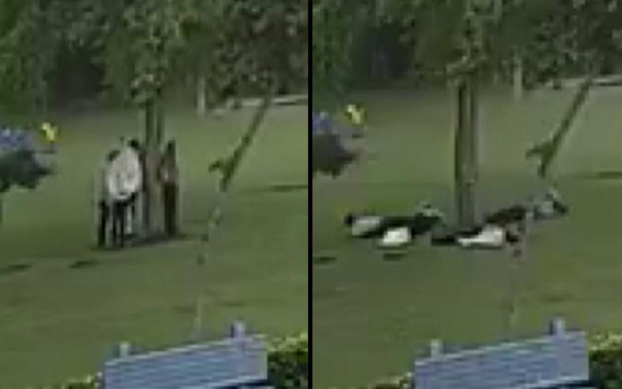 Hindistan'daki yıldırım faciası kameralara yansıdı