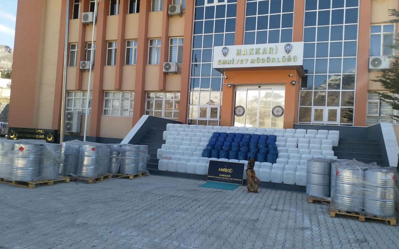 PKK'ya büyük darbe indirildi Hakkari Valisi açıkladı tam 7 ton 420 litre...