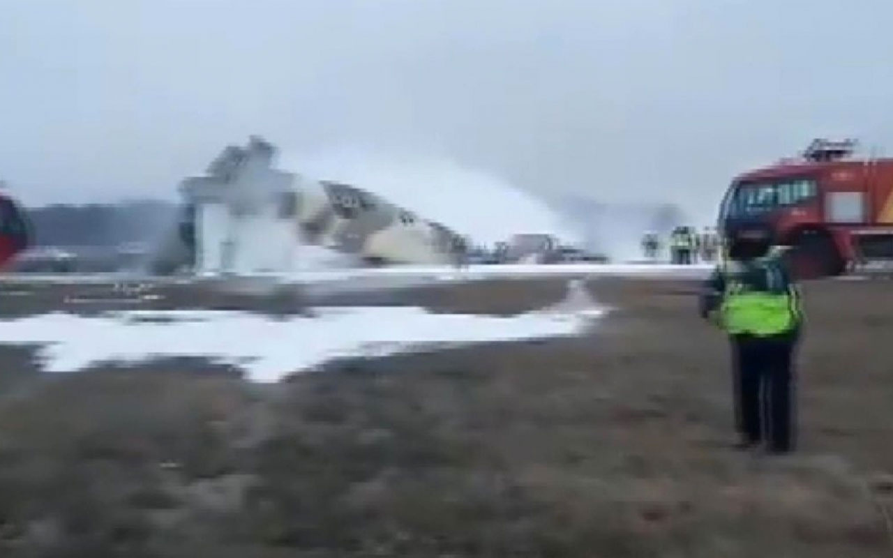 Kazakistan'da uçak düştü! Kazada 4 kişi hayatını kaybetti