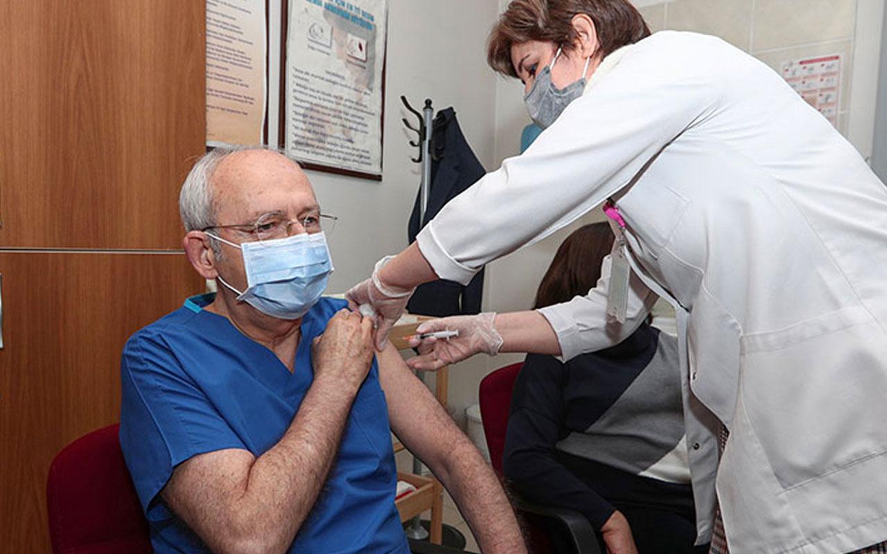 CHP Lideri Kemal Kılıçdaroğlu koronavirüs ikinci doz aşıyı yaptırdı teşekkür etti