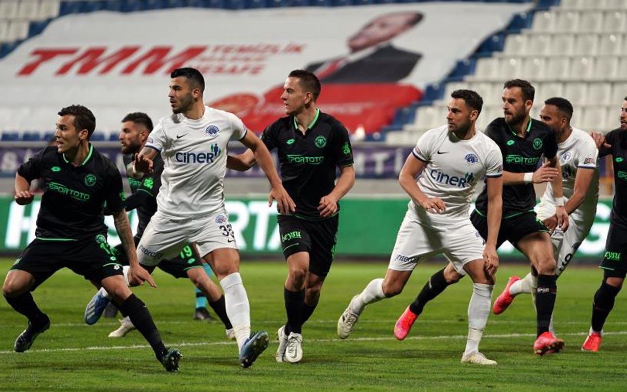 Kasımpaşa-Konyaspor maçında kazanan çıkmadı