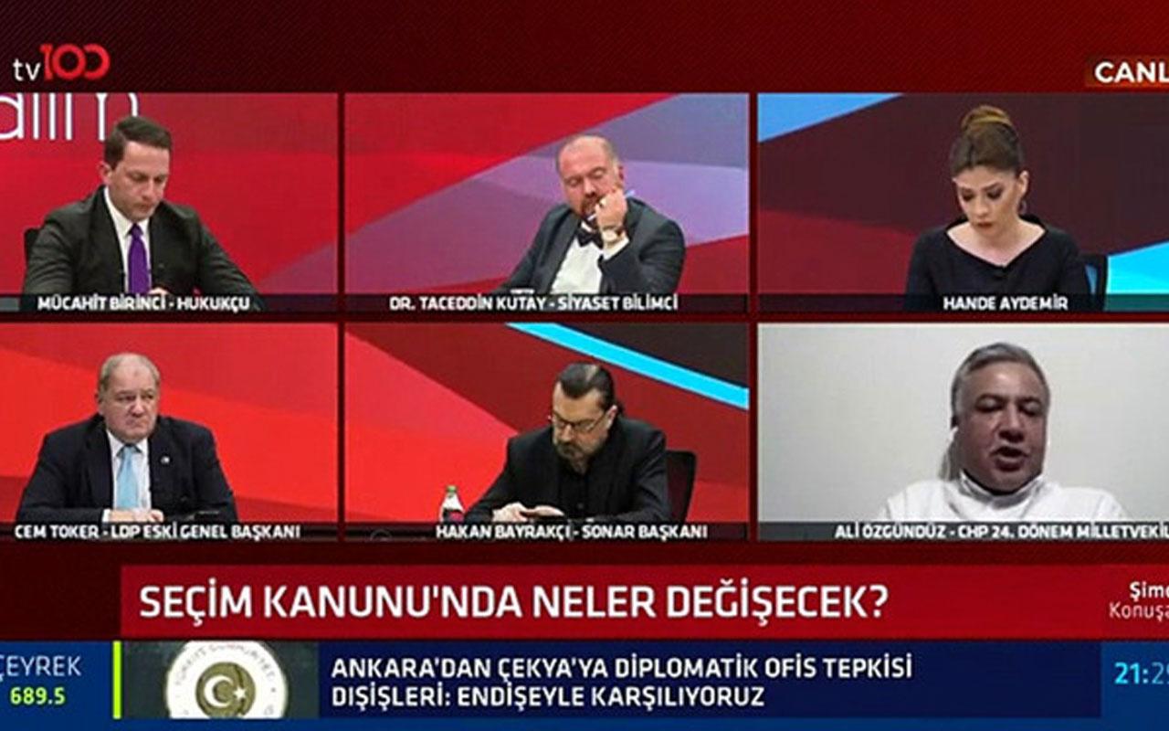 TV 100 canlı yayınında AK Partili ve CHP'li isim birbirine girdi! Stüdyoyu terk etti