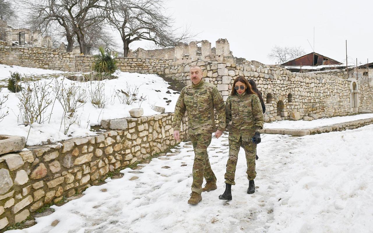 Azerbaycan Cumhurbaşkanı Aliyev Ermenistan işgalinden kurtarılan Fuzuli ve Hocavend'i ziyaret etti
