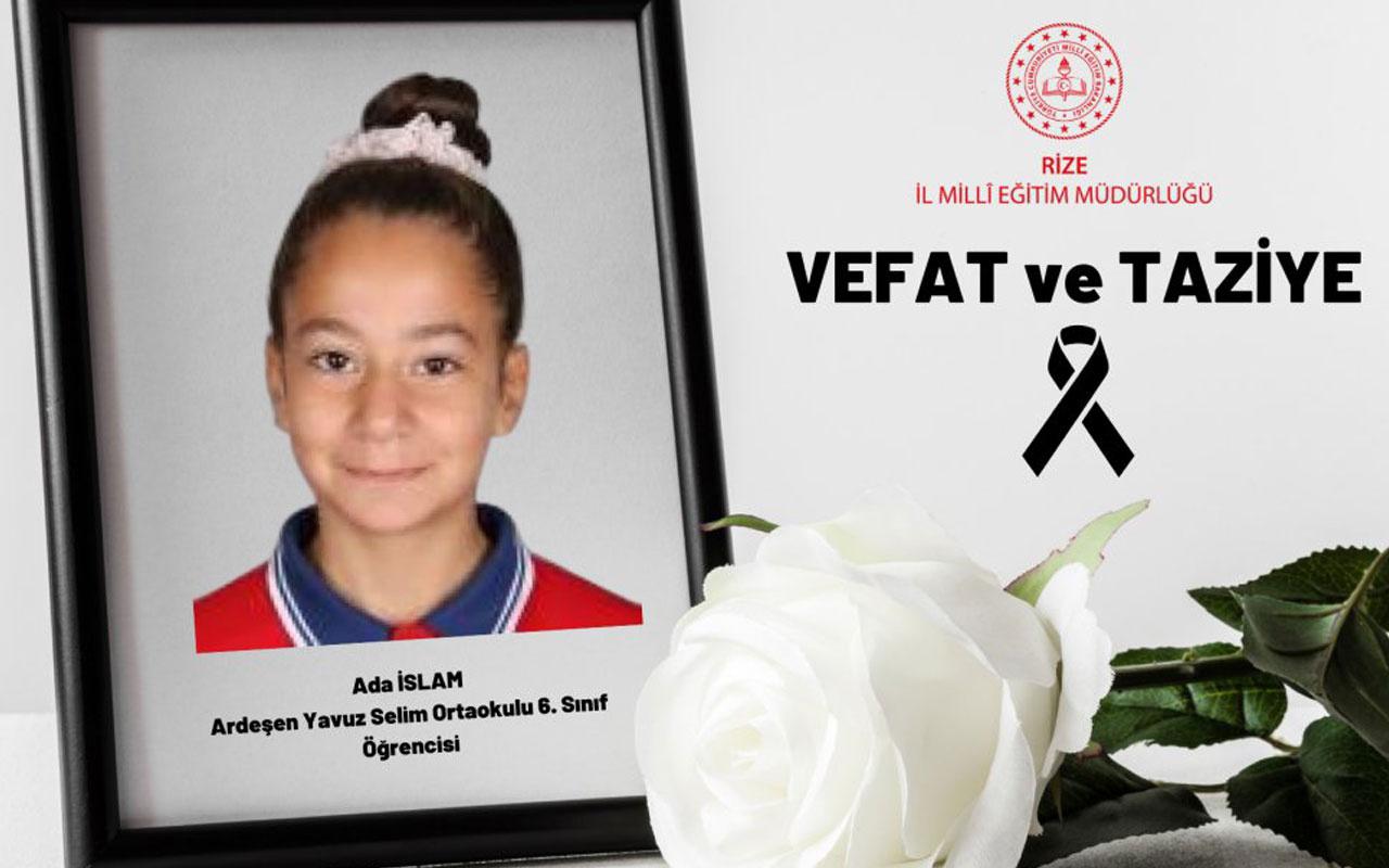 Rize'de kalp krizi geçiren ortaokul öğrencisi hayatını kaybetti