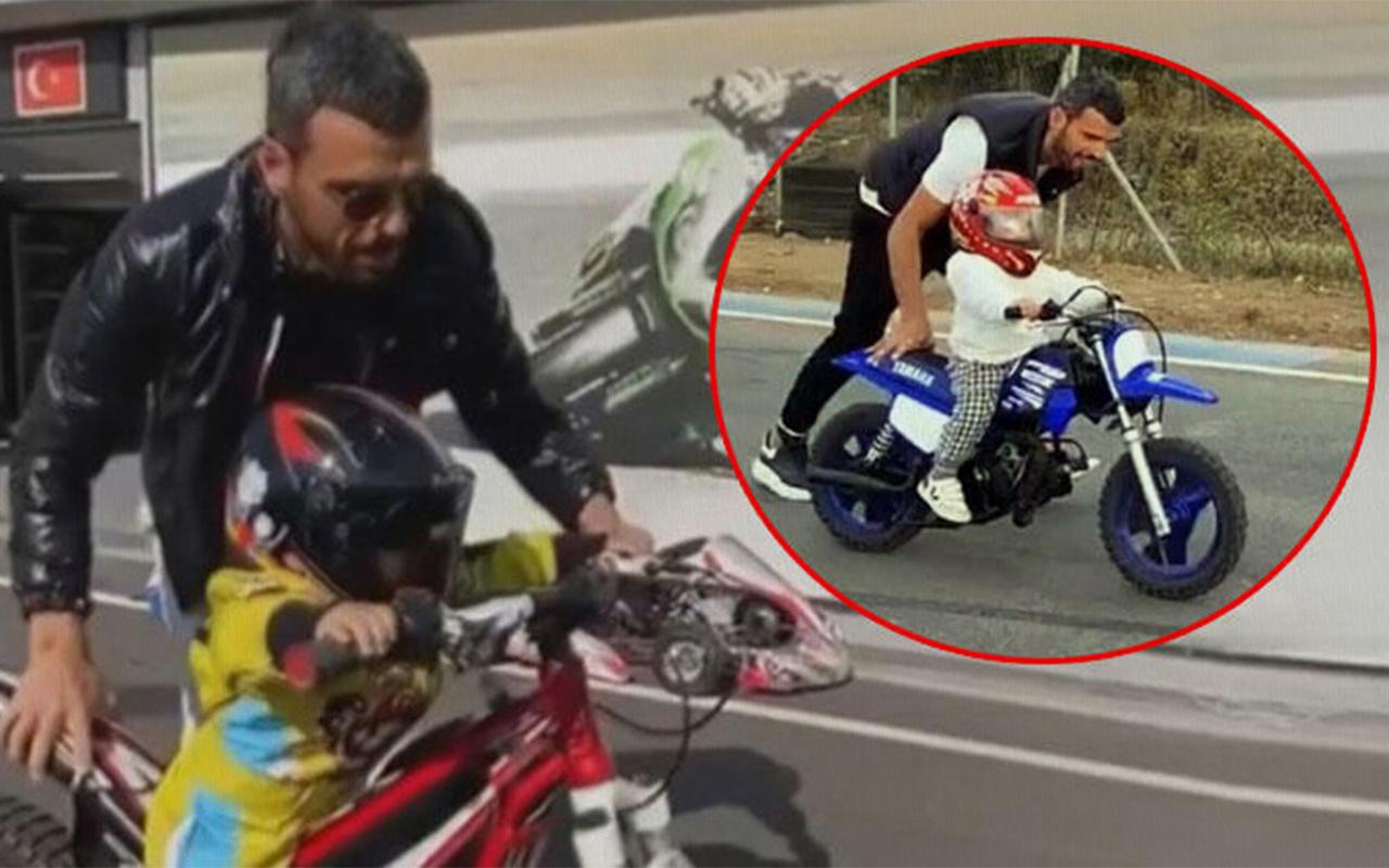 Kenan Sofuoğlu oğlunun 2 yaşına girmeden motor kullanmasını eleştirenlere yanıt verdi