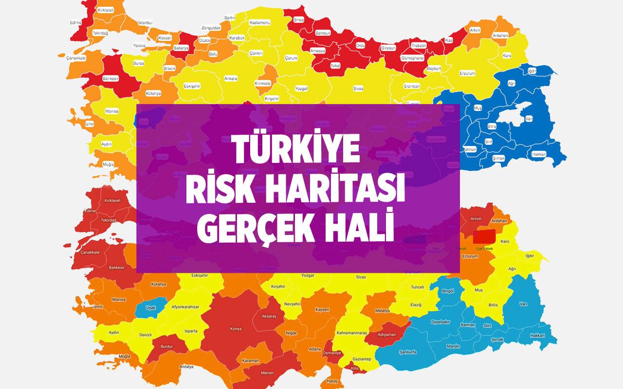 Türkiye Covid-19 risk haritası niye güncellenmedi? Gerçek hali böyle olmalıydı