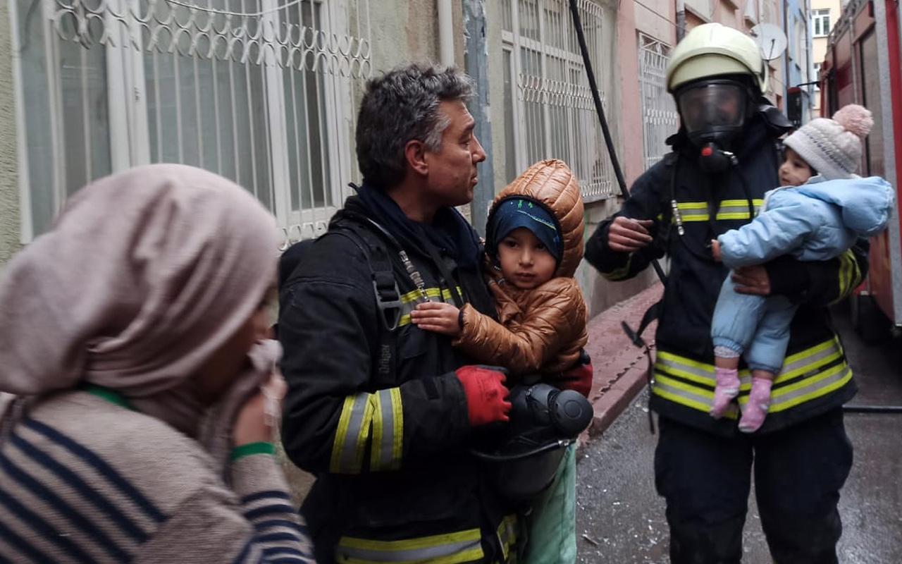 Konya'da alevler daireyi sardı! 8'i çocuk 10 kişi hastanelik oldu