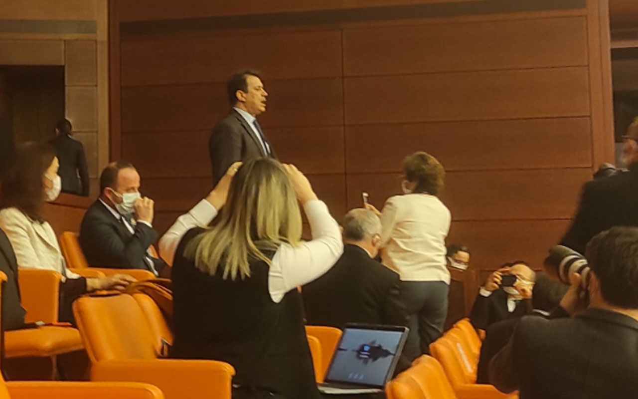 AK Partili eski vekil Abdurrahim Aksoy'dan Meclis'te Gergerlioğlu protestosu
