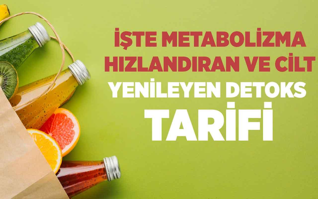 İşte metabolizma hızlandıran ve cilt yenileyen detoks tarifi!