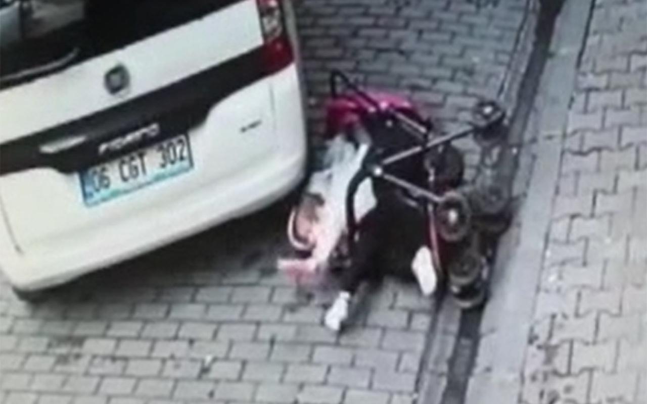 İstanbul Bağcılar'da bebek ezilmekten son anda kurtuldu