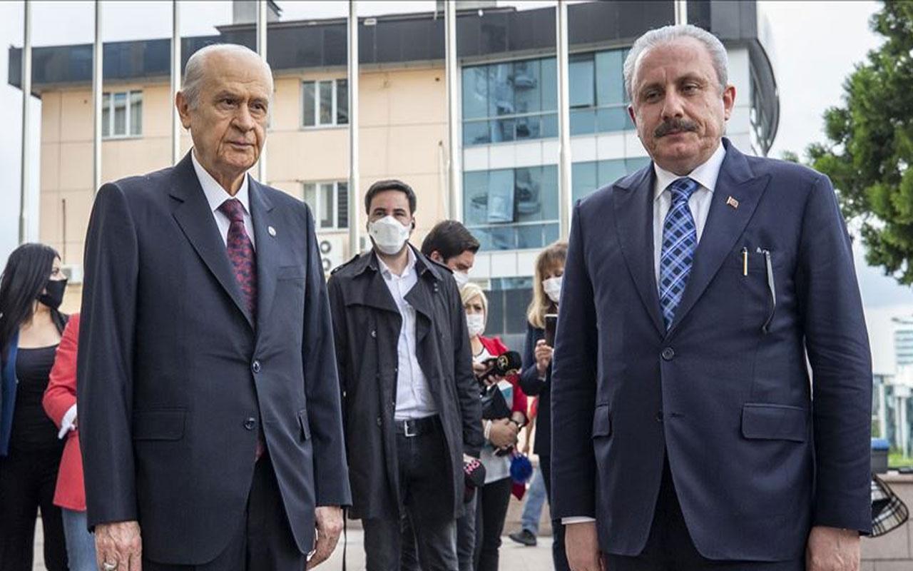 TBMM Başkanı Mustafa Şentop MHP lideri Devlet Bahçeli'yi tebrik etti