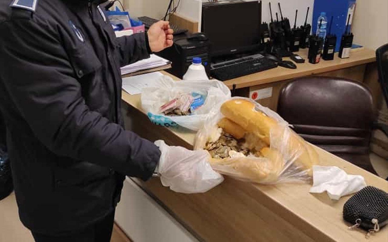 Sivas'ta yakalanan dilencilerin topladığı paralar ekmeğin içinden çıktı