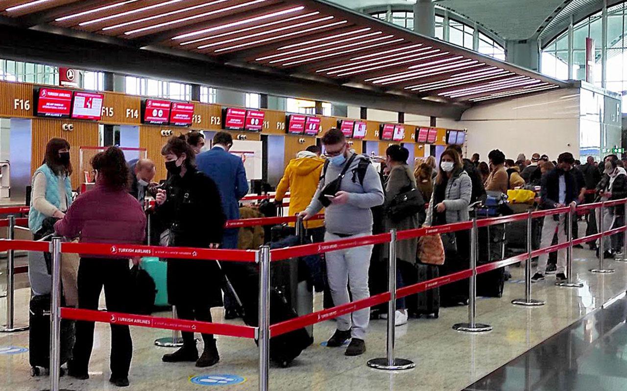 İstanbul Havalimanı Kovid-19 sürecinin en yoğun gününü yaşıyor