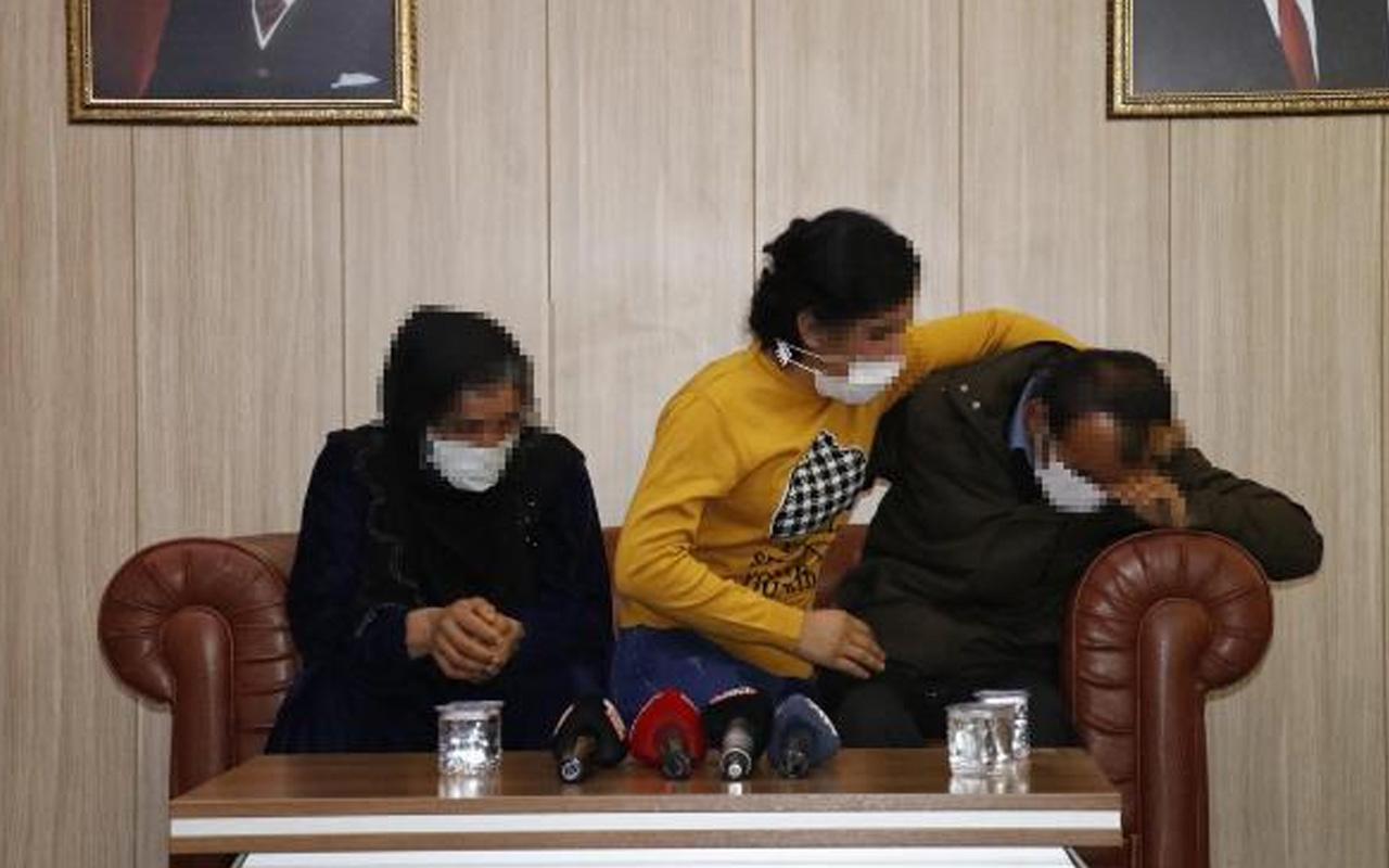 İkna yoluyla teslim olan terör örgütü PKK üyesi 2 şahıs Mardin'de aileleriyle buluştu