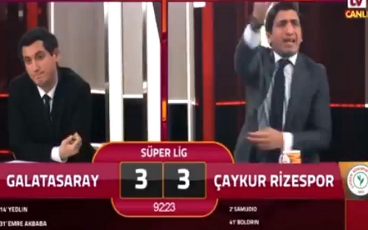 Rizespor'un galibiyet golü sonrası GS TV spikeri çıldırdı  o anlar kayıttaydı