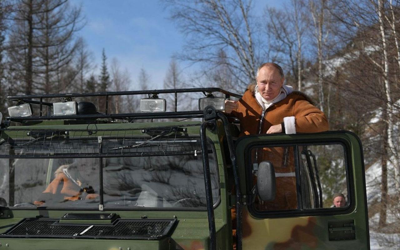 Putin, hafta sonu tatilini Savunma Bakanı ile Sibirya'da geçirdi renkli pozlar