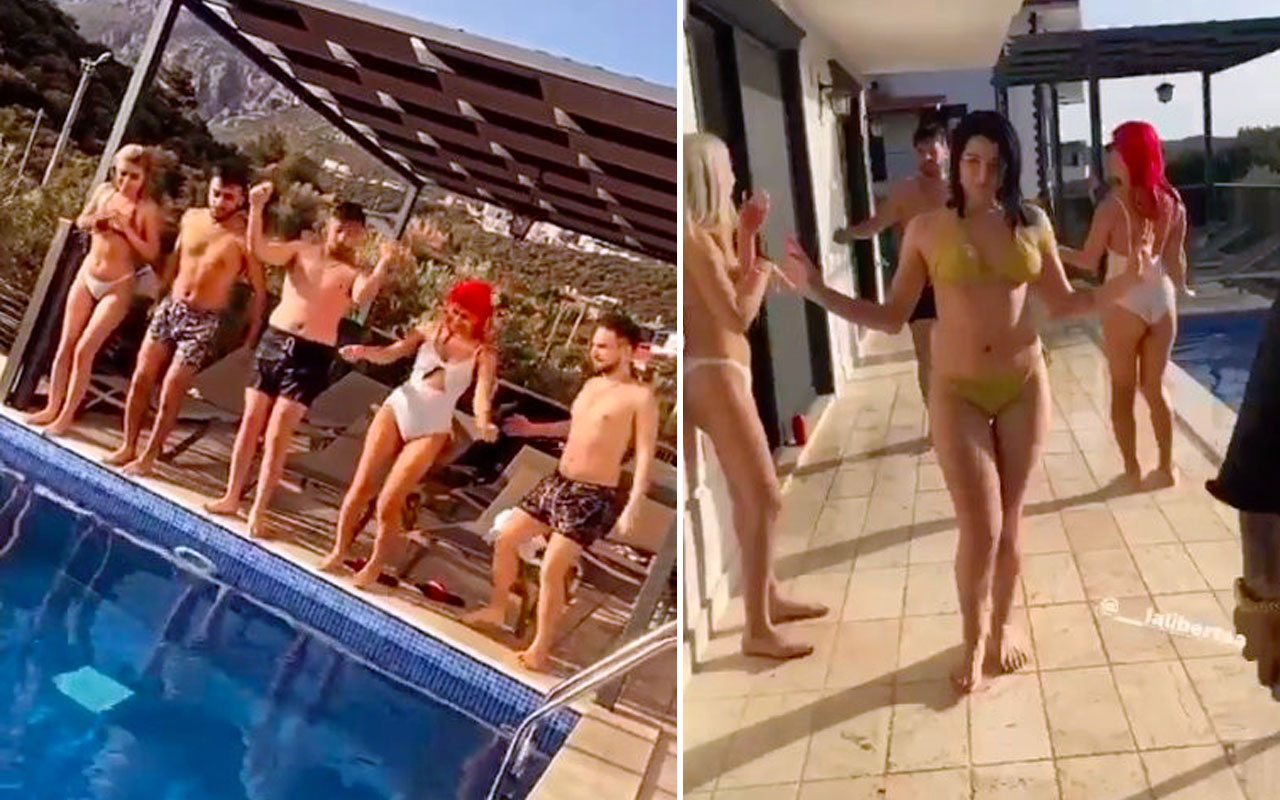 Antalya'da villada 'pes' dedirten kaçak havuz partisi