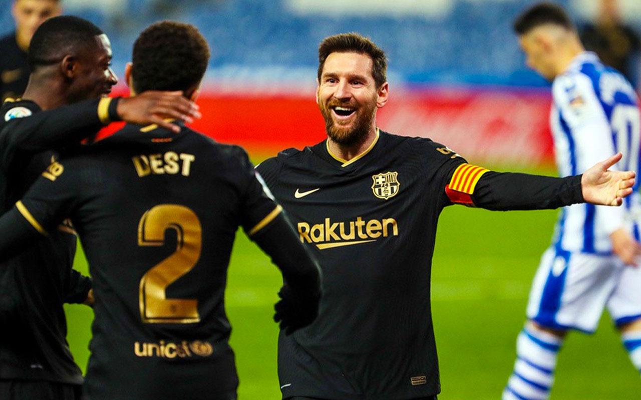 Messi tarihe geçti Barcelona şov yaptı