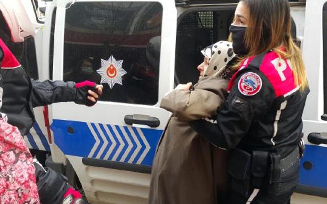 Bursa'da banka şubesine maskesiz girmek isteyen anne-kız, polise 40 dakika direndi