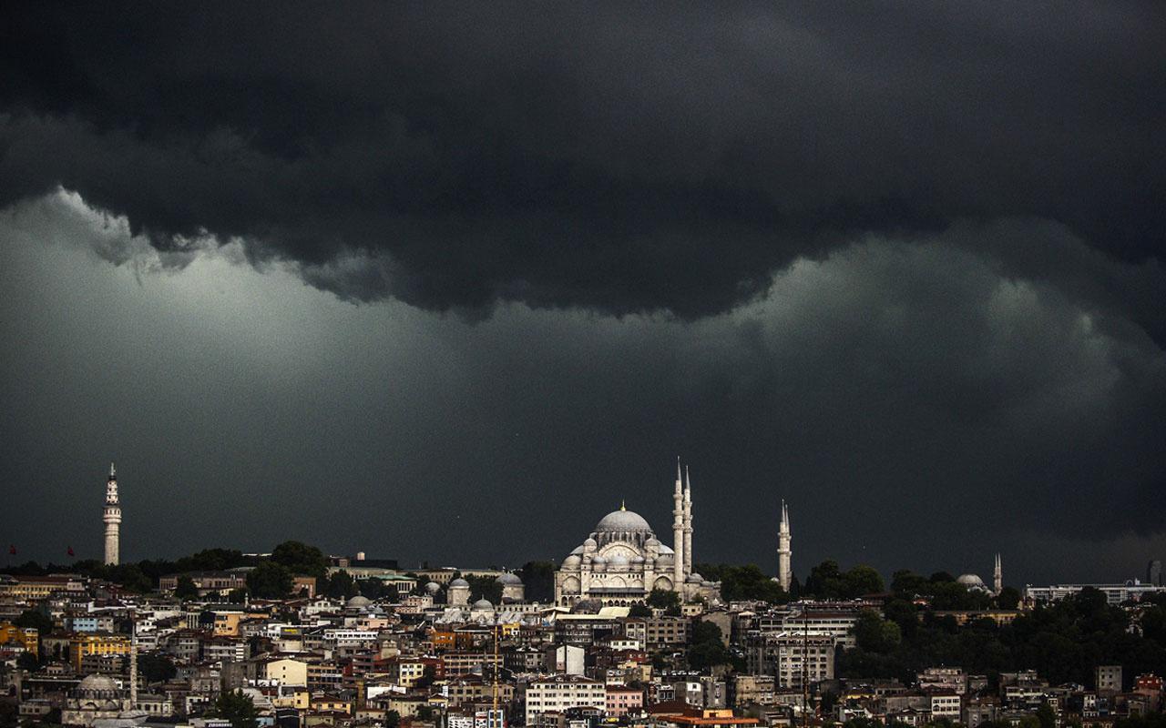 İstanbul saatlik hava durumu yağmur patladı! AKOM kar geliyor diyor