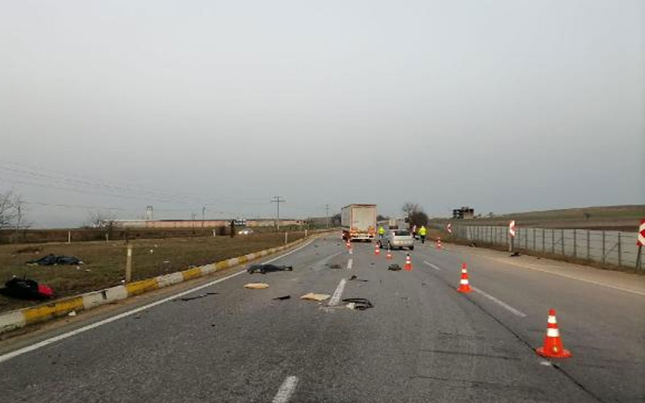 Eskişehir'de aşırı hız kazası! Takla atan otomobilde biri kadın 2 kişi hayatını kaybetti