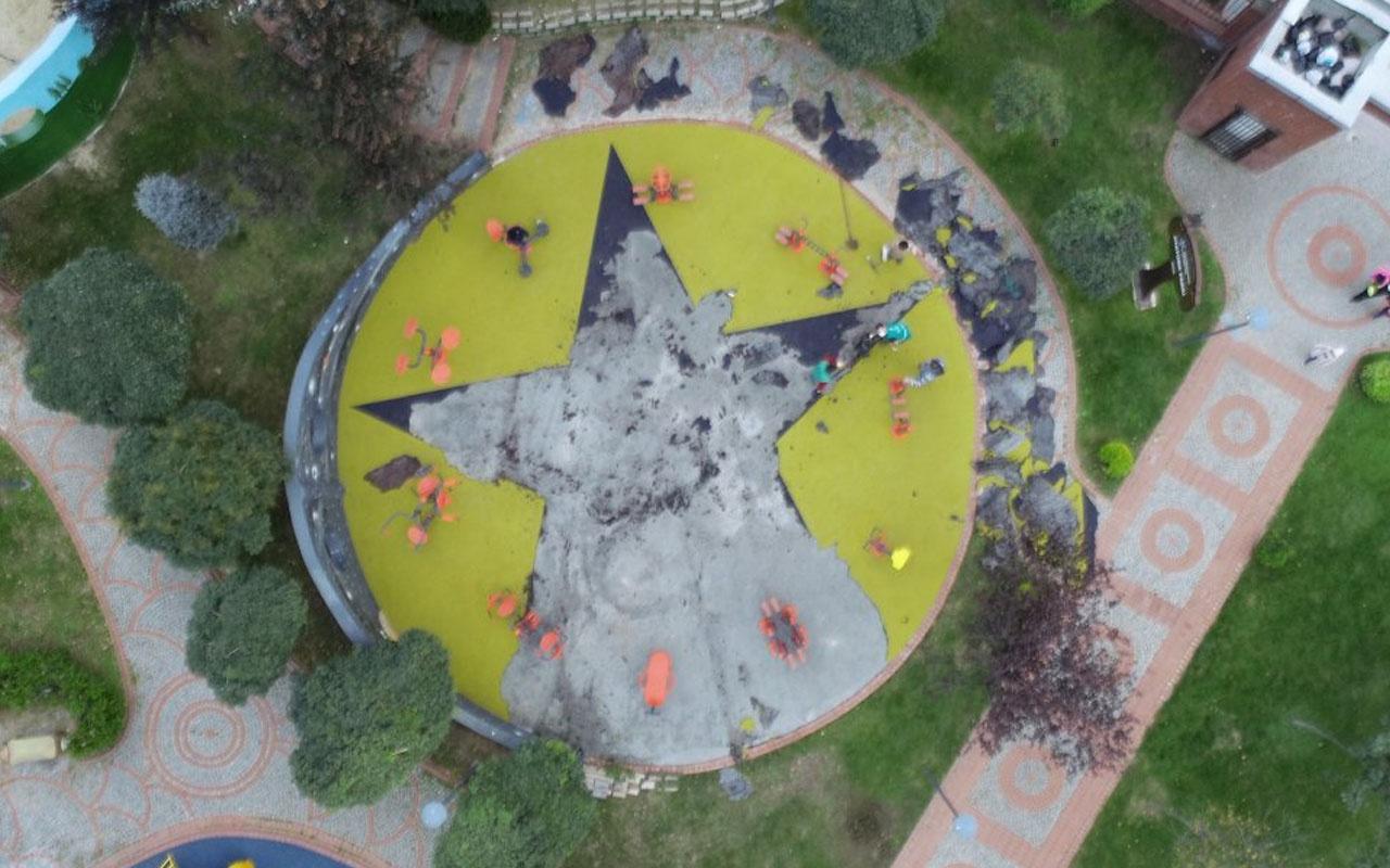 Küçükçekmece'deki çocuk parkında terör propagandasına istenen ceza belli oldu