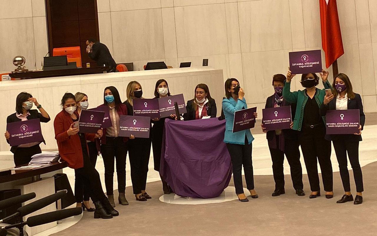 CHP'li vekilin Meclis'teki protestosuna uyarı cezası