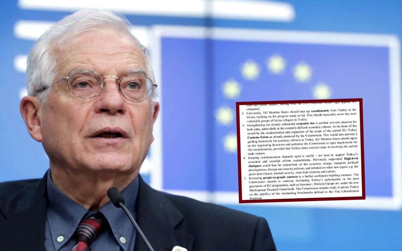 2 gün sonra dünya liderlerine sunulacak! Josep Borrell'in Türkiye raporu