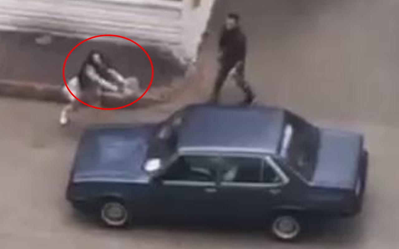 Antalya'da kadın sokakta dehşet saçtı! 'Otomobilin suçu ne?' dedirten görüntü