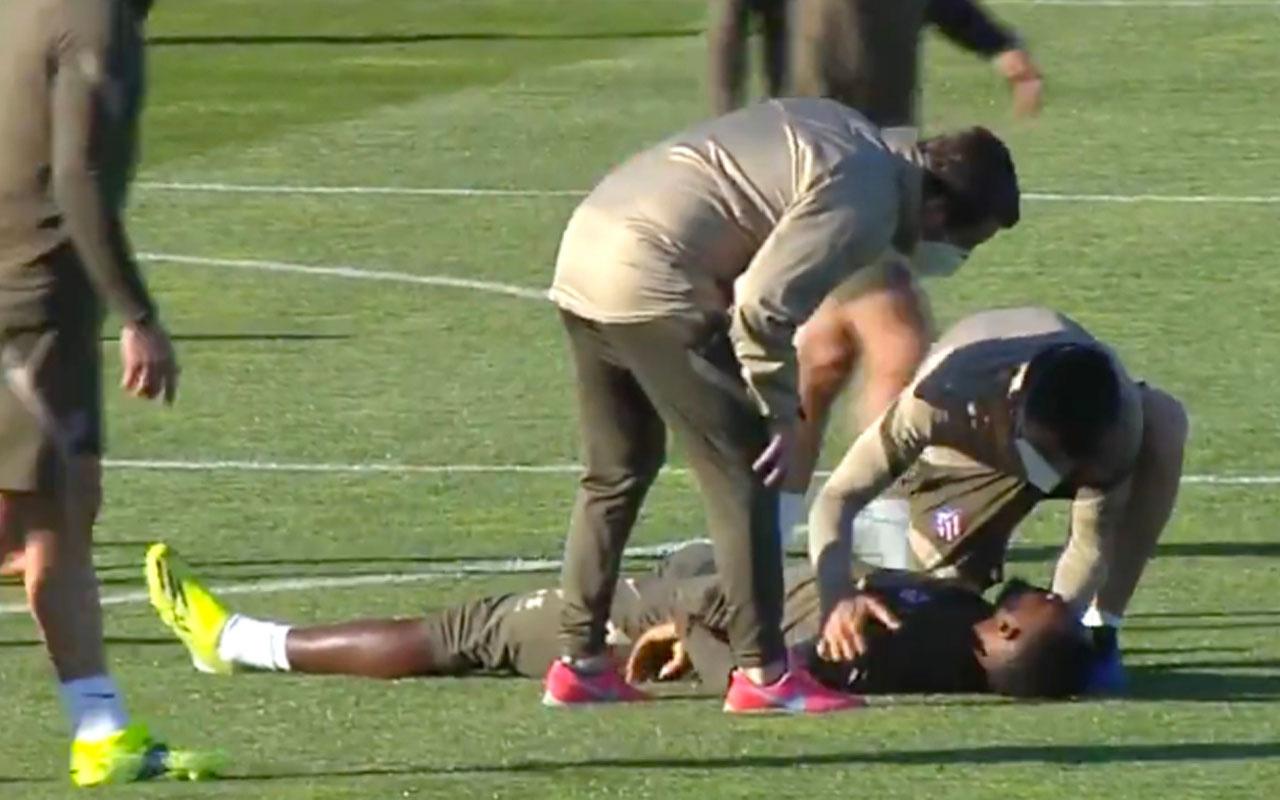Moussa Dembele antrenmanda bayıldı yürekler ağza geldi