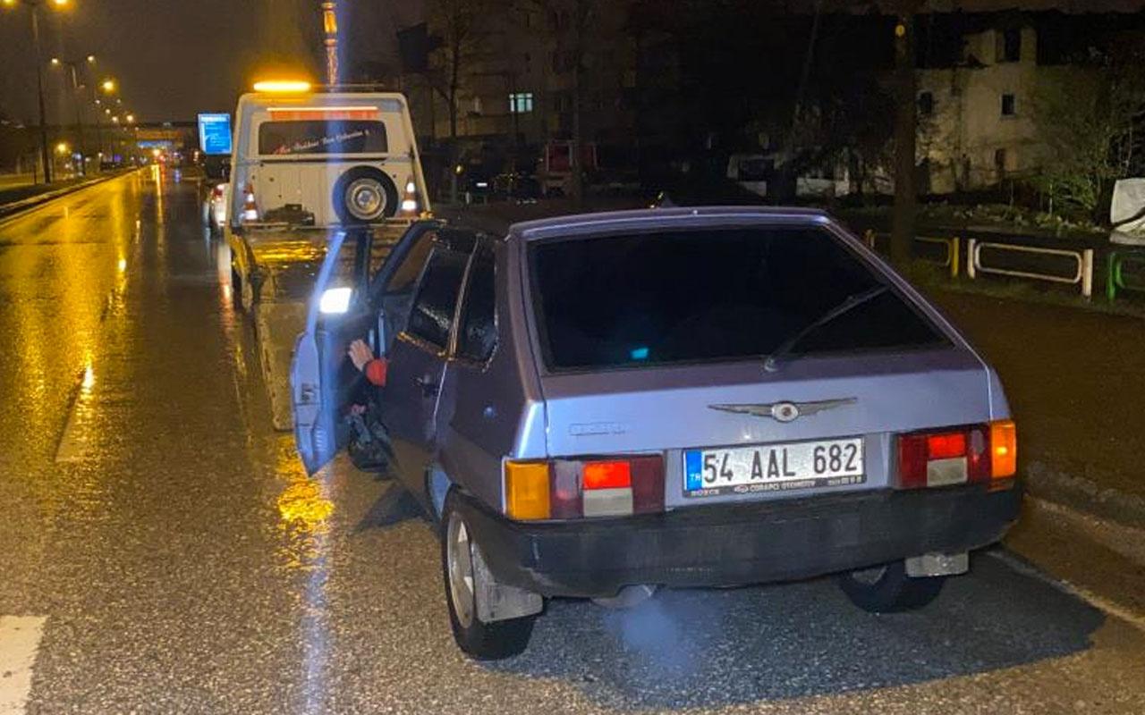 Düzce'de kaçmaya çalışan sürücüye aracının değeri kadar ceza kesildi