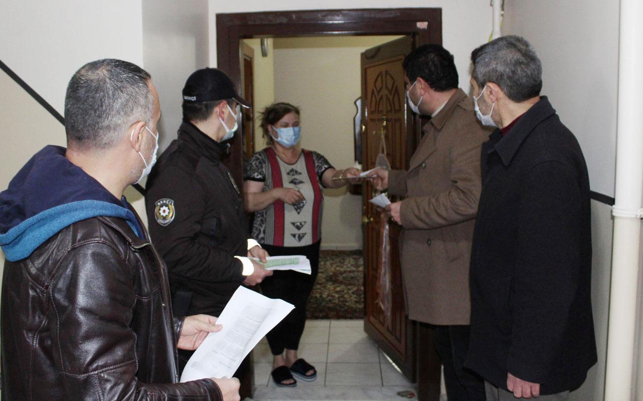 Darıca'da koronavirüsle mücadele yeni uygulama kapı kapı dolaşıp...
