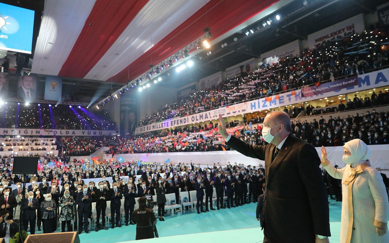 Cumhurbaşkanı Erdoğan AK Parti 7. Olağan Büyük Kongresi'ndeki konuşmasında 81 ili tek tek selamladı