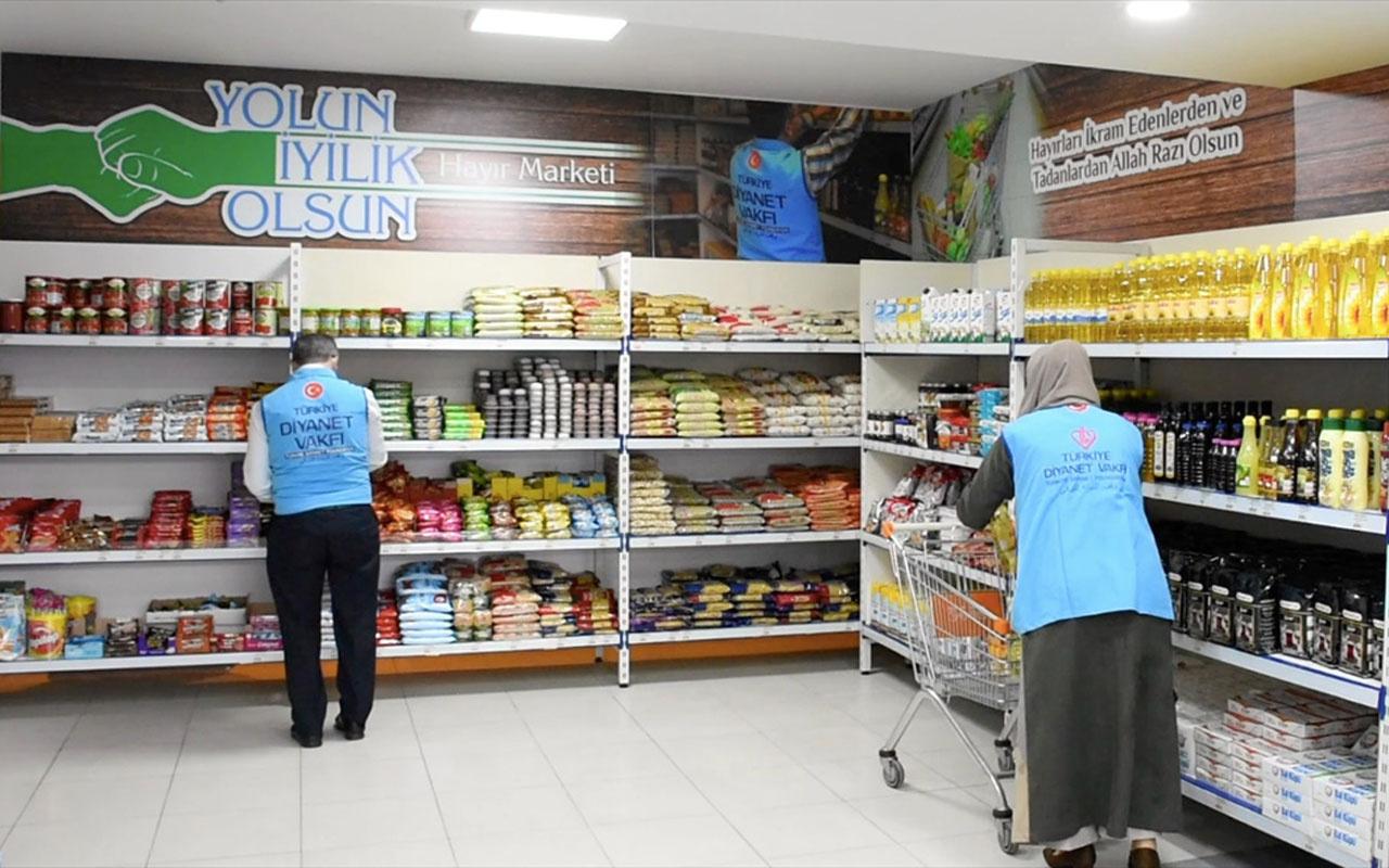 Bursa'da müftülüğün açtığı 'Hayır Marketi' dar gelirli ailelerin ihtiyaçlarını karşılıyor