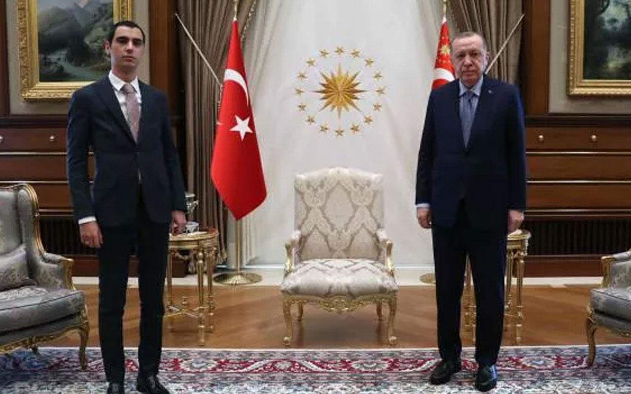 Erdoğan, Muhsin Yazıcıoğlu'nun oğlu ile görüştü