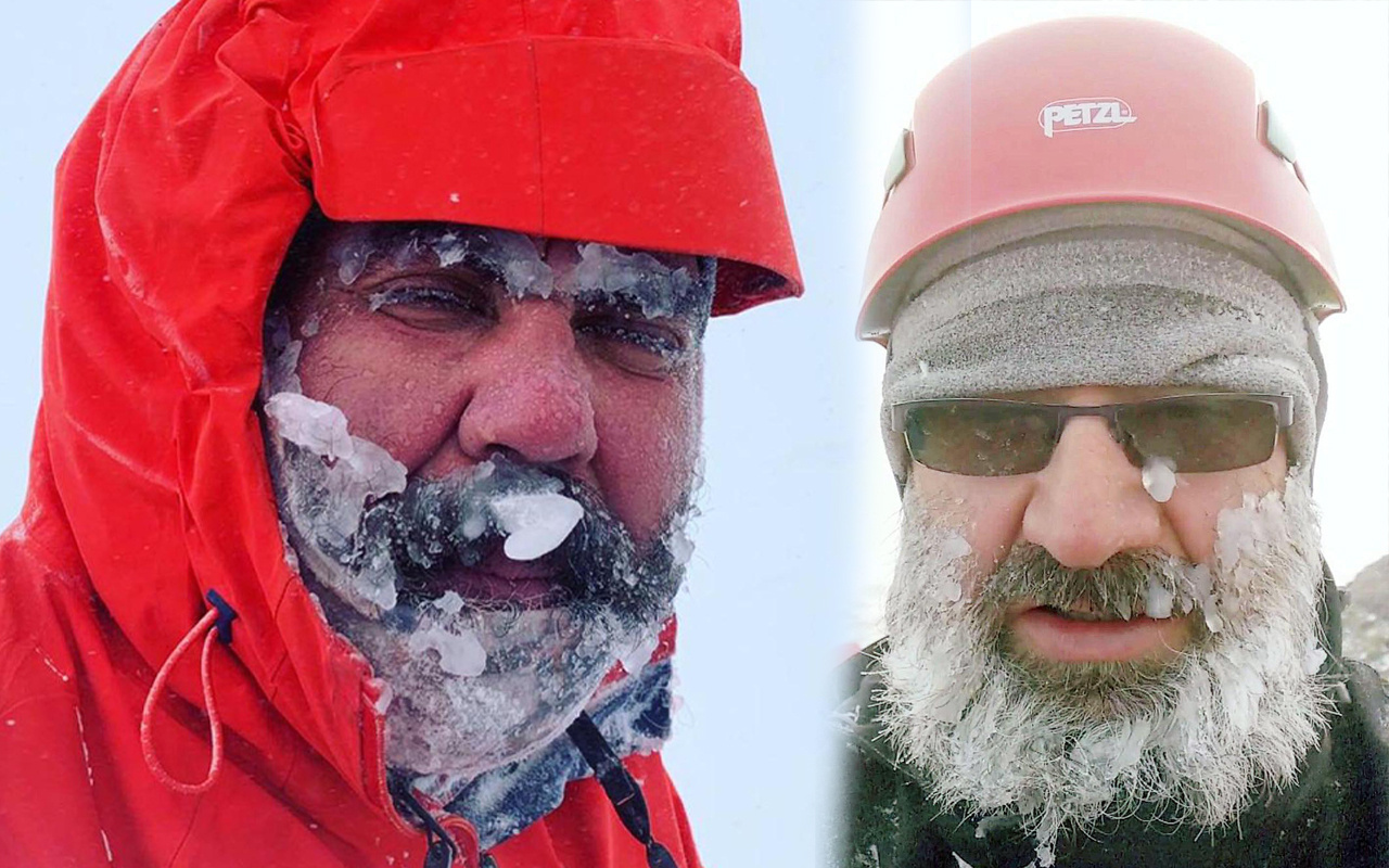 Bitlis'te zor anlar! Tipiye yakalandılar sakal ve bıyıkları buz tuttu