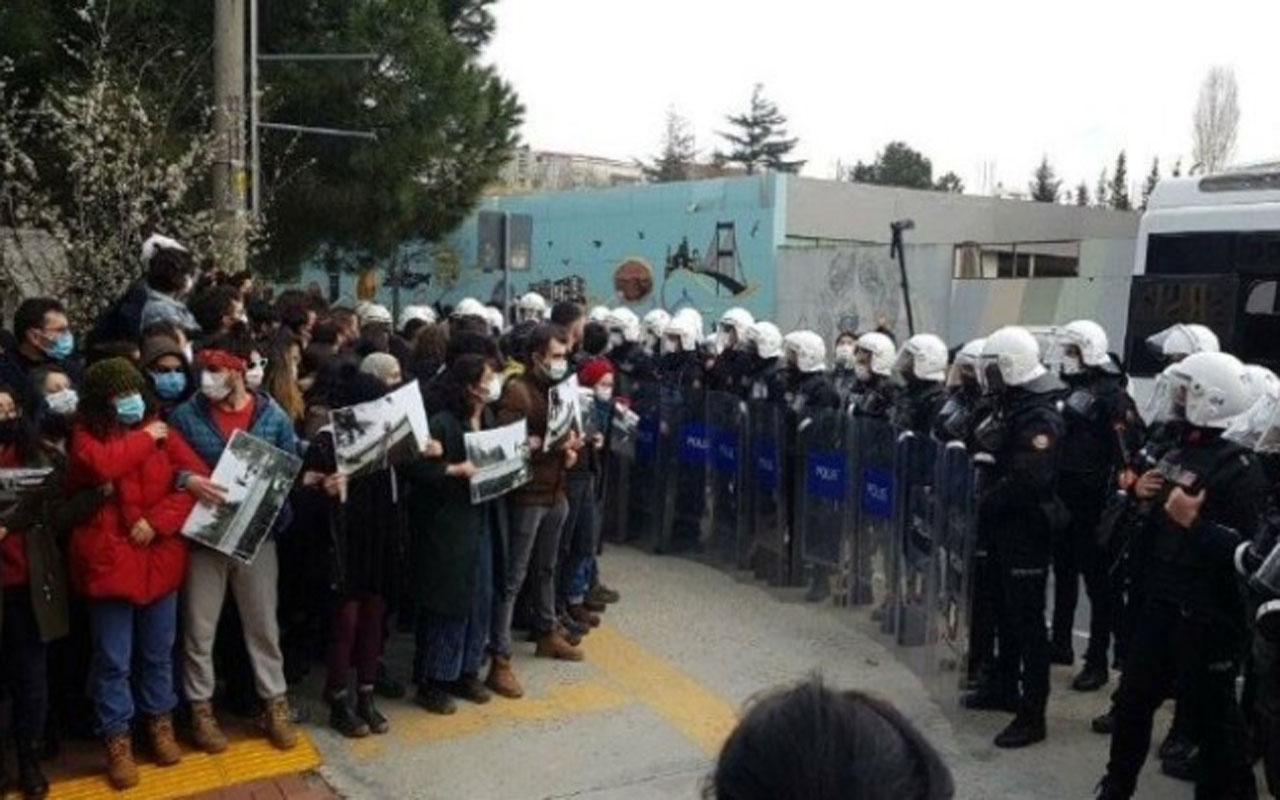 Boğaziçili öğrenciler için yapılmak istenen açıklamaya polis müdahalesi