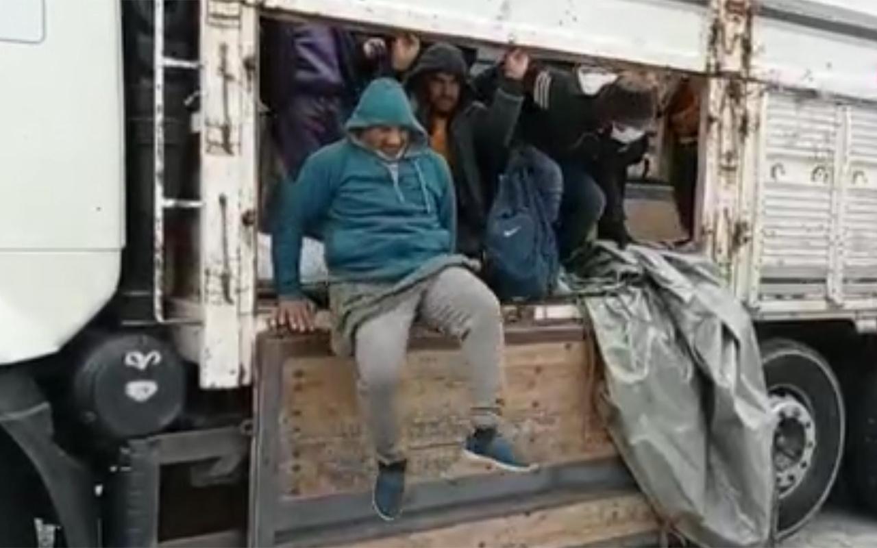 Van'da bir kamyonun kasasında 112 sığınmacı yakalandı