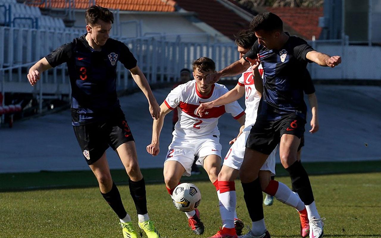 Ümit Milli Futbol Takımı, Hırvatistan'a farklı mağlup oldu