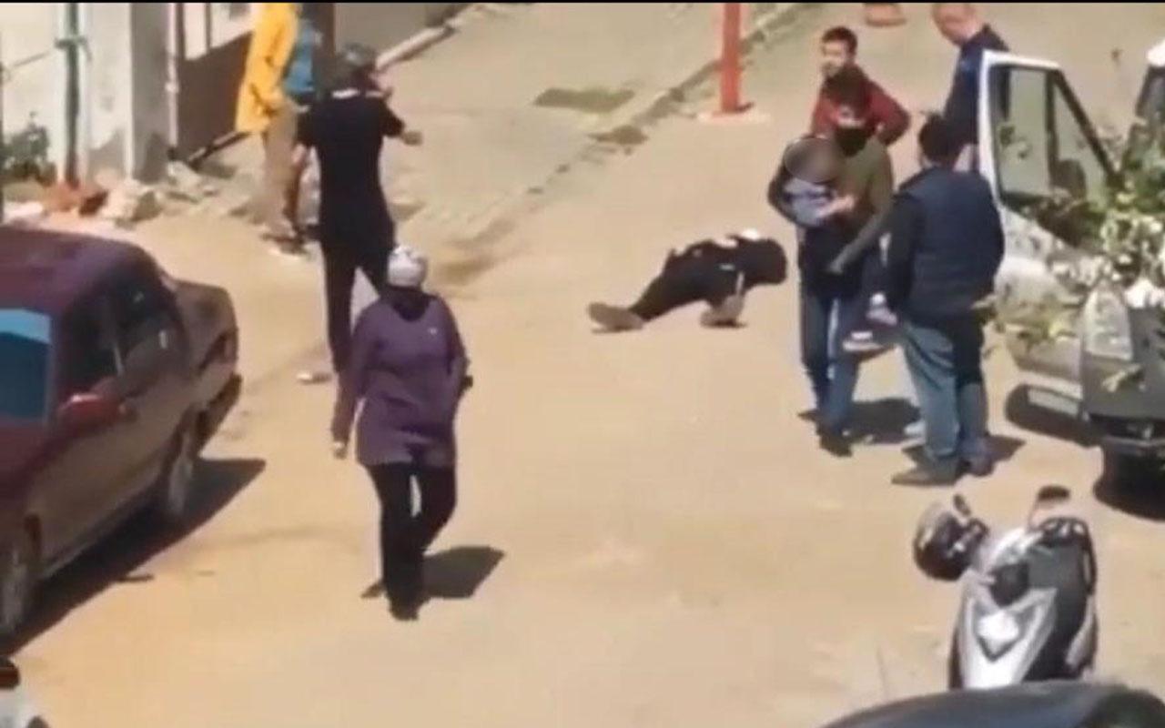 Aydın'daki kadın cinayetinin görüntüleri! Küçük kızı vatandaşlar uzaklaştırdı