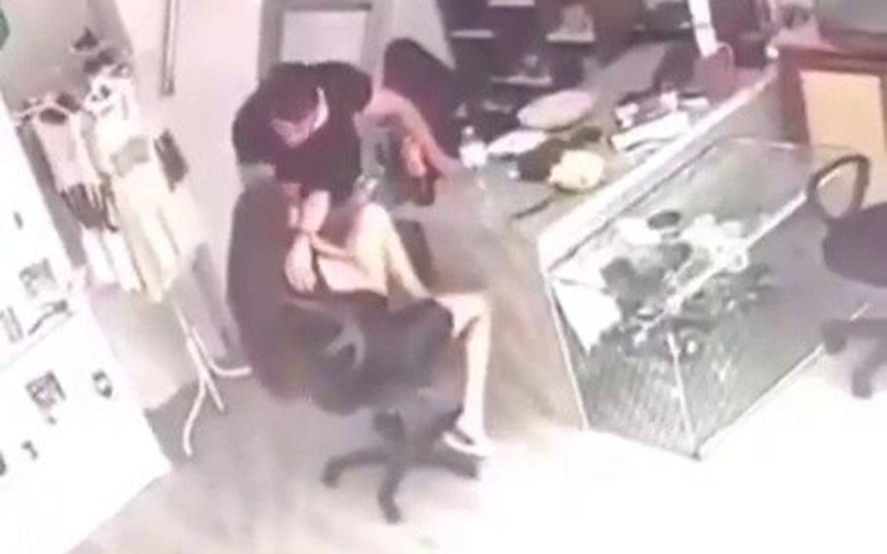 Muğla'da kadına şiddet kamerada! Önce dövdü sonra hiçbir şey olmamış gibi yemek yedi