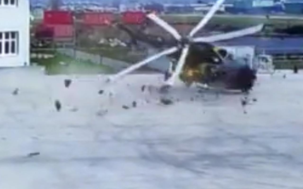 İtalya'da helikopter faciası saniye saniye kaydedildi