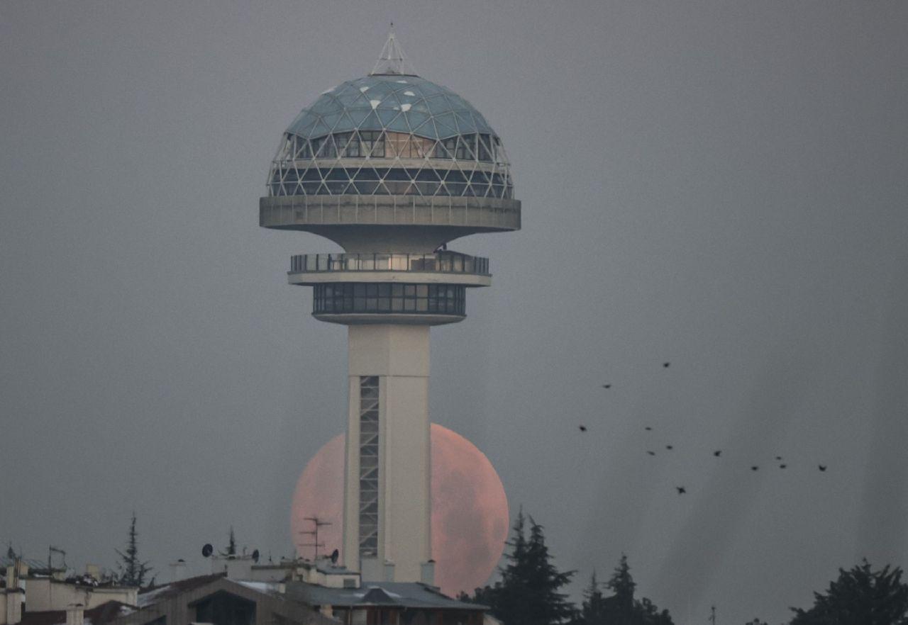 Türkiye'den göz kamaştıran dolunay manzaraları