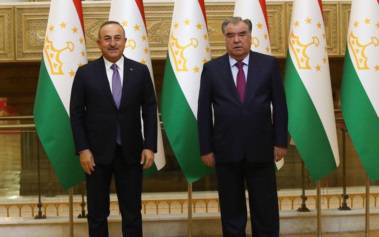 Bakan Mevlüt Çavuşoğlu'dan  Tacikistan ziyaret! İş birliği anlaşması imzalandı