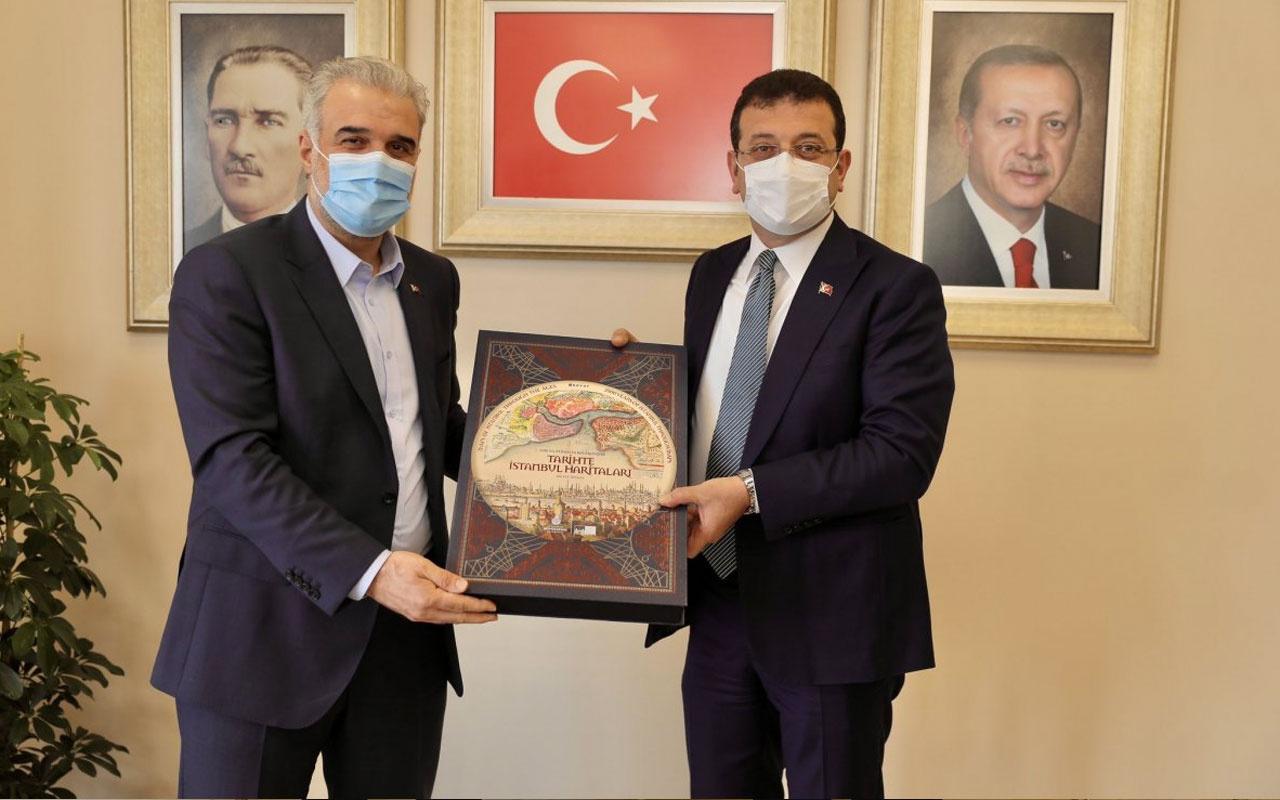 Ekrem İmamoğlu'ndan AK Partili İstanbul Başkanı Osman Nuri Kabaktepe'ye ziyaret